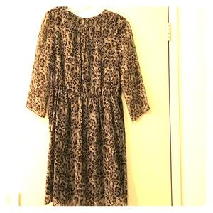 Gryphon Dresses & Skirts - Gryphon dress grey animal print silk size 6 medium