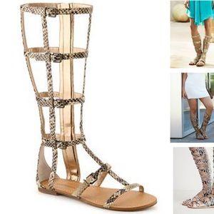 BCBGeneration Shoes - NEW BCBGeneration Snakeprint Gladiator Sandals