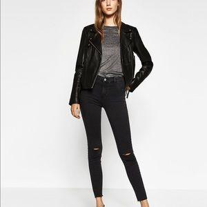 Zara Denim - Zara high waisted dark grey jeggings