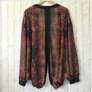 City Chic Sweaters - NWT 20 plus size mirror print split back cardigan