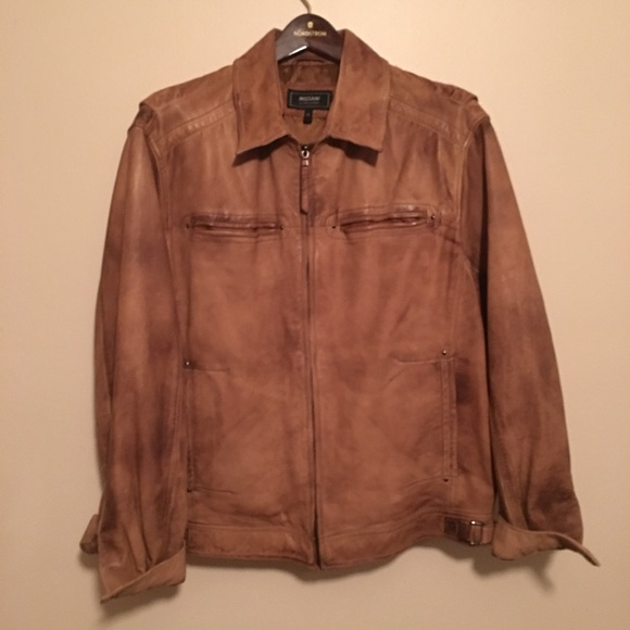 best loved 3d062 10270 Missani Le Collezioni, Washed Leather Jacket