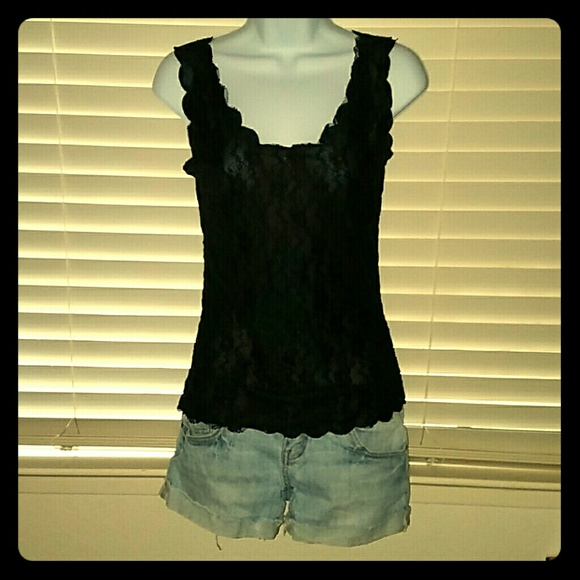 Wet Seal Tops - *Black Lace Tank*