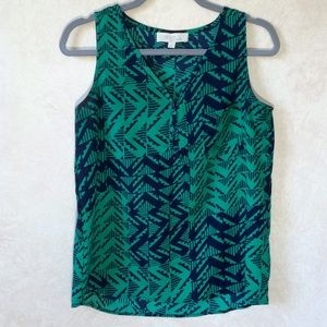 Olive & Oak Tops - Olive and Oak Green and Blue Sleeveless Top S