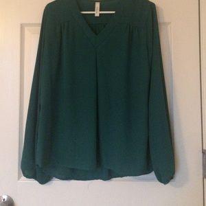 Adrienne Tops - Long sleeve green top