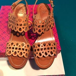 f60f3f368c890c Tory Burch Shoes - Tory Burch Nori Laser Cut Cork Wedge Sandal 10
