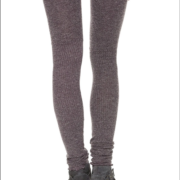 Free People - Free People Heathered Ribbed Knit legging sweater ...
