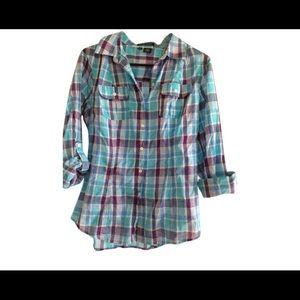 Sandra Ingrish Tops - Sandra Ingrish plaid button down shirt NWOT