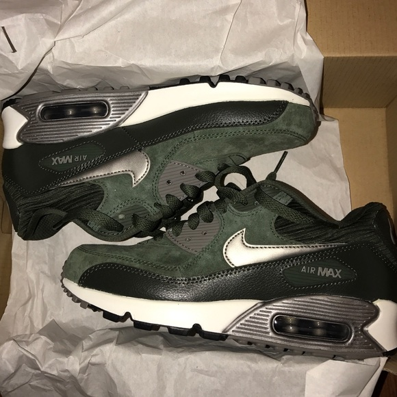 Olive Green Suede Nike Air Max 90