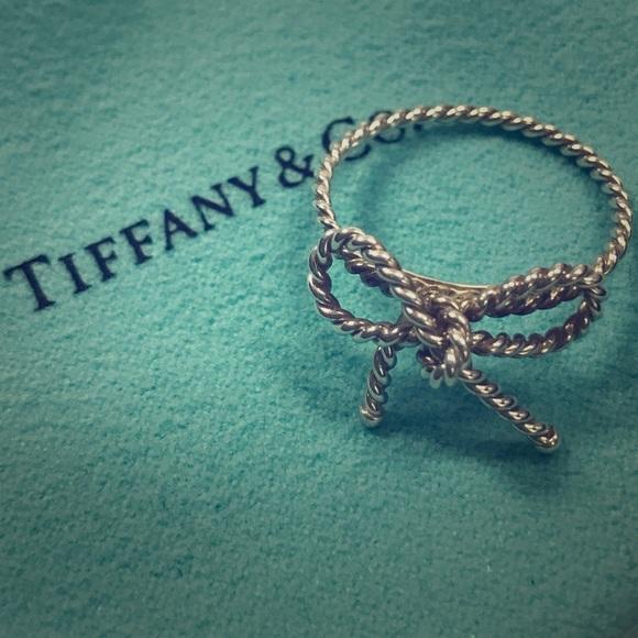 4000adeb852f Tiffany Sterling Silver Bow Ring. M 58862350d14d7b6b8a145660