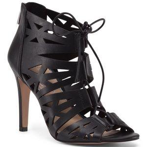✨NIB✨ Jessica Simpson Black Laser Cut Lace Up Heel