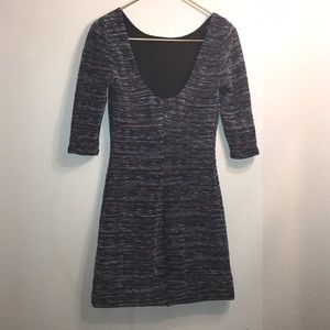 Urban Outfitters Dresses - VTG INS SHIFT DRESS NAVY& MULTI COLOR 3/4 Sleeve M