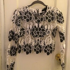 Endless Rose Laced Top size Medium