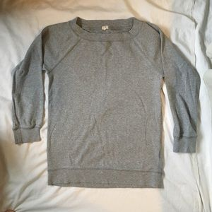 J. Crew Gray Crewneck Sweater