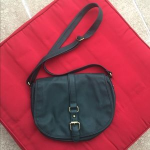 Green Faux Leather Purse