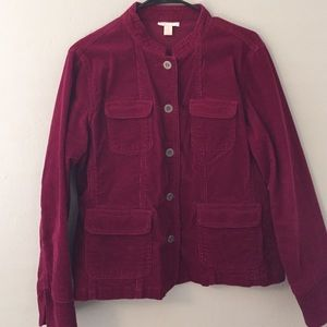 Woman's Raspberry Cordoury Jacket