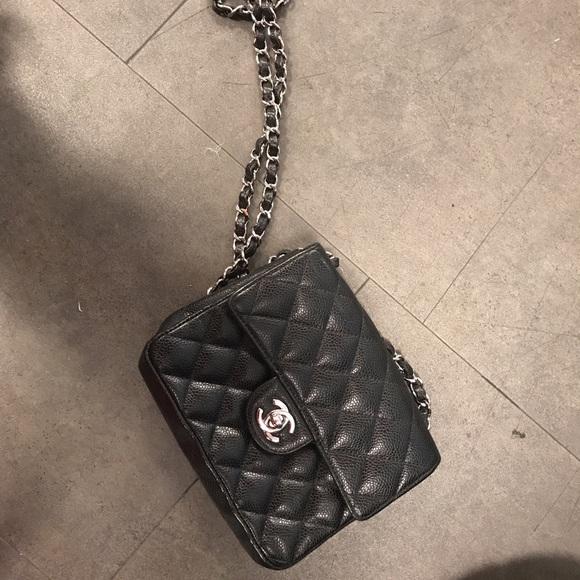 315780fa11f6 CHANEL Handbags - Authentic Chanel square mini Flap caviar crossbody