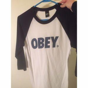 OBEY quarter sleeve shirt