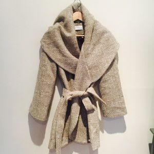 Tahari Wool Wrap Coat