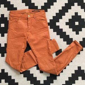 Zara Waxed Denim Pants