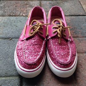 Sperry Top-Sider Shoes - Sperry pink Sparkle top sider
