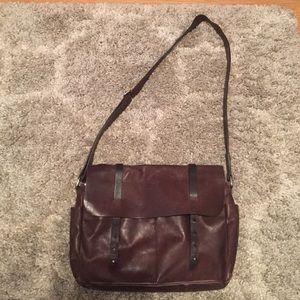 Valentina leather messenger bag