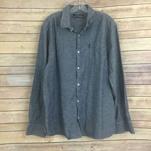 Five Four Other - Chambray Five Four confetti mens shirt, 2XL (#M17)