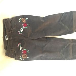 Brown, Embroidered Dolce & Gabbana Corduroy Pants