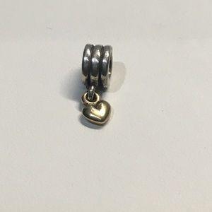 421eb3744 Pandora Jewelry   14k 925 Dangle Heart Charm 790173   Poshmark