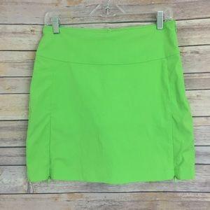 Antigua Pants - Antigua golf skirt size 4, lime green (#A10)