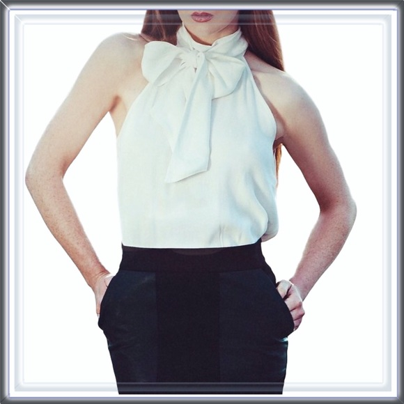76afacbfd93 New With Tag Zara White Pussy Bow Blouse NWT