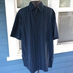George Other - Mens👕GEORGE Blue Striped Button Shirt