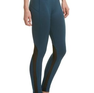 Pants - New teal black mesh yoga workout leggings