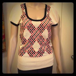 Super Cute  Juicy Couture Checker-Pixel Sweater