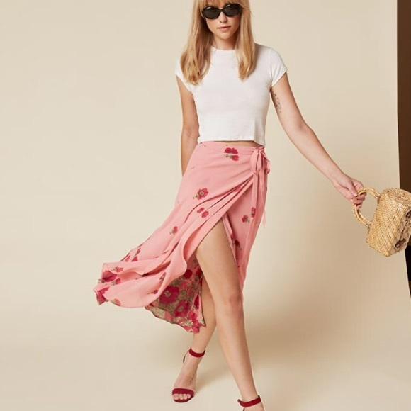 f7a83733a29b0e Reformation Skirts | Nwt Newman Skirt Vivian Pink Xs | Poshmark