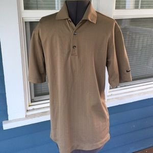 Nike Other - Mens👕NIKE GOLF Tan Fit Dry Polo Shirt