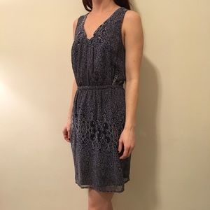 Madewell Dresses & Skirts - Broadway & Broome Blue Marbleized Silk Dress