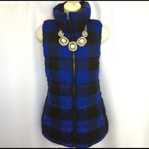 Old Navy Jackets & Blazers - 🎉HP🎉 Old Navy Soft Plaid Flannel Puffer Vest