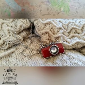 Jewelry - Red Camera Necklace
