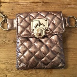 Michael Kors Mk Hamilton Lock Quilted Fanny Pack