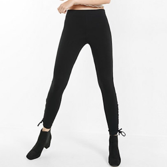 cb12c1ac28951 Express Pants | Lace Up Side Sexy Leggings | Poshmark