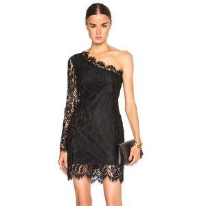 Pierre Balmain Dresses & Skirts - Black lace one shoulder dress
