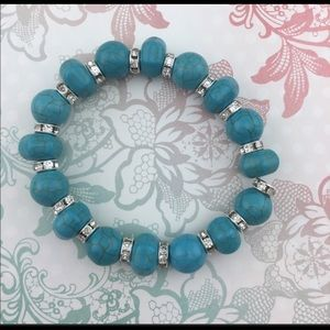 T&J Designs Jewelry - 🎉SALE🎉 Beautiful Pave Crystal Turquoise Bracelet