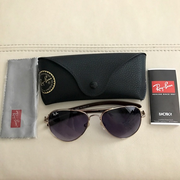 63e0eba6631 New Ray Ban Aviator Carbon Fibre RB8307 58 14-128