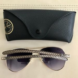 04e745043b2 Ray-Ban Accessories - New Ray Ban Aviator Carbon Fibre RB8307 58 14-128