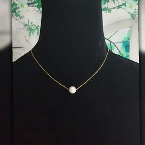 Genuine Freshwater Pearl Necklace & Earring Set