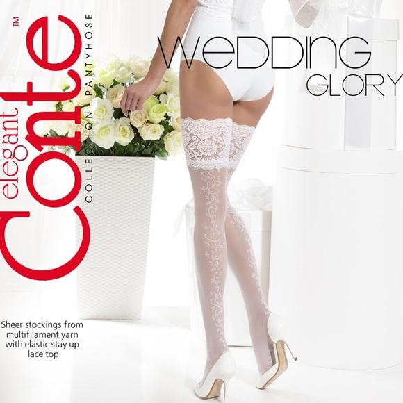 feb17756cf Conte Wedding Glory Collection Sheer Stockings