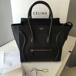 Celine Handbags - Celine Micro Luggage Tote