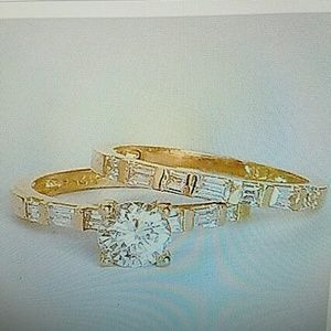 14k yellow gold 2pc engagement ring