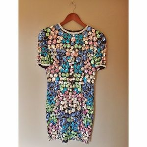 VTG Niteline Sequin Beaded Silk Shift Party Dress