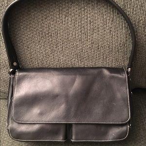 Perlina Handbags - Perlina Black Leather Hobo Handbag Purse